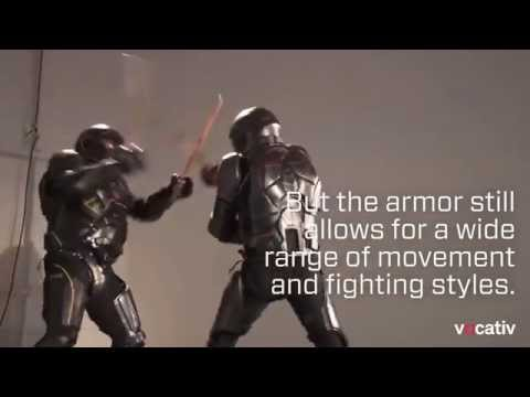 Futuristic suit of armor for full-contact weapons combat