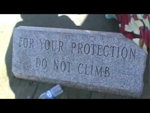 Halifax, Nova Scotia - DO NOT CLIMB WAVE ON WATERFRONT ! ! !
