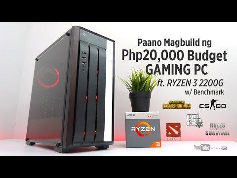 VLOG: Paano magbuild ng Php20k Budget Gaming PC ft. Ryzen 3 2200G w/ Benchmark - PUBG Dota2 CSGO Ros
