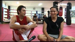 Entertainment News - Indra L. Brugman dan Ressa Herlambang jalani latihan Muay Thai