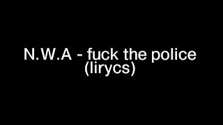 fuck tha police an analysis of the .