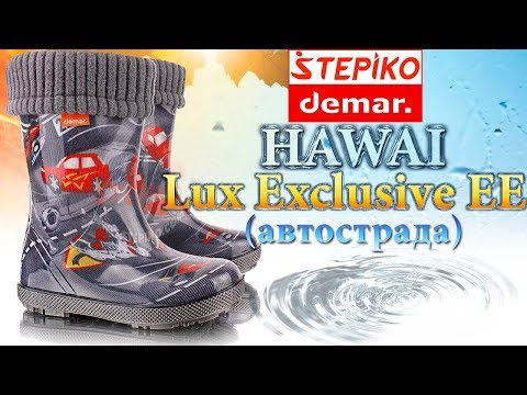 DEMAR Hawai Lux Exclusive EE Автострада 👣 Видео обзор на резиновые сапоги Демары 0448EE от #STEPIKO