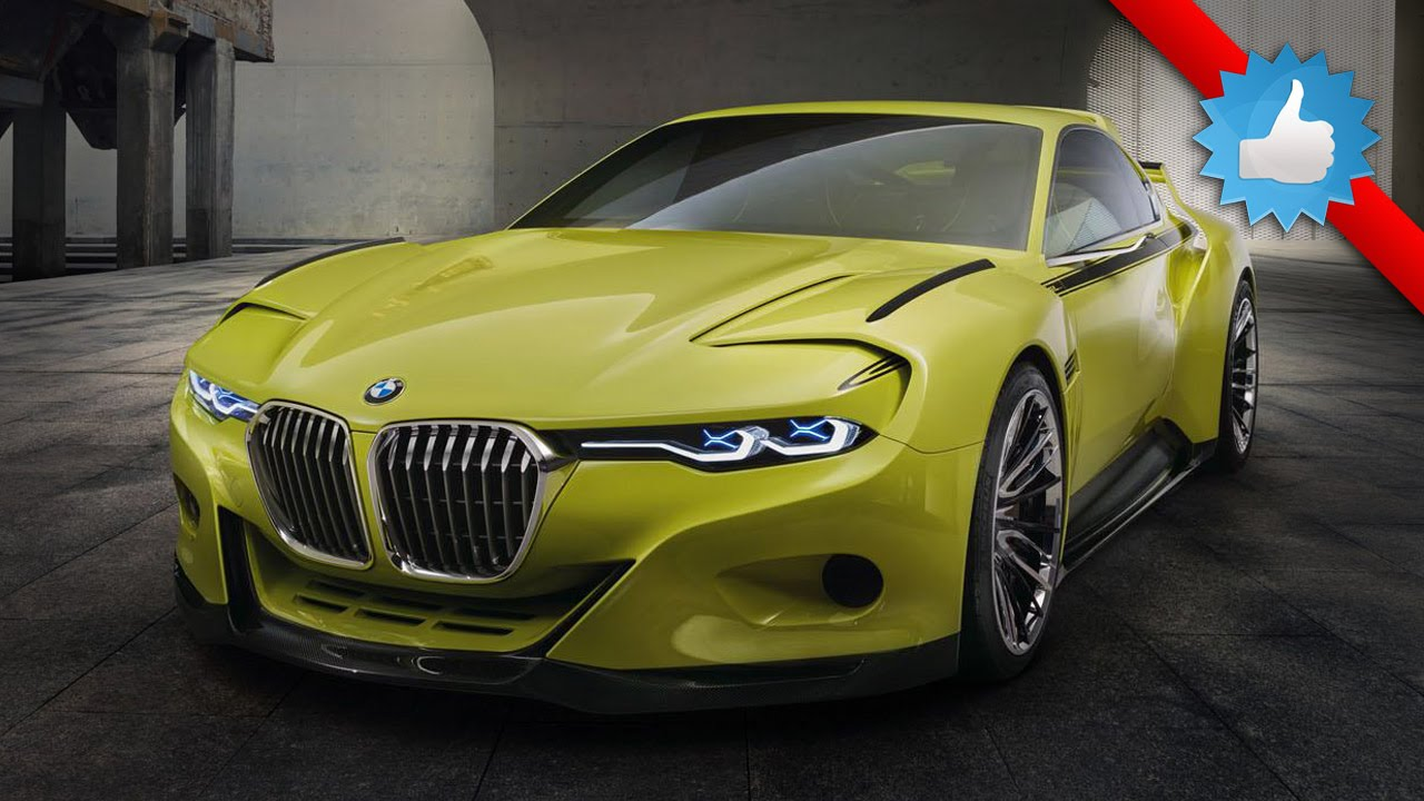 2015 BMW 3.0 CSL Hommage Concept Car: Yellow Body Color