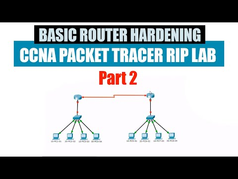 Basic Router Hardening | CCNA Packet Tracer RIP Lab part 2