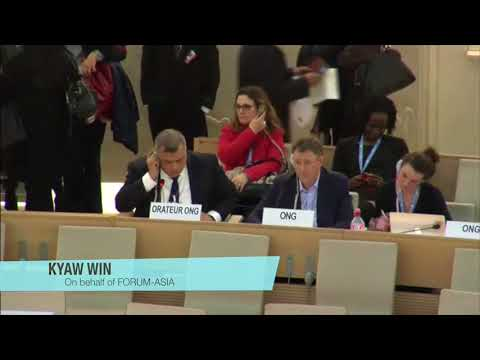 HRC37: FORUM-ASIA on the Situation in Myanmar & the Independent International Fact Finding Mission