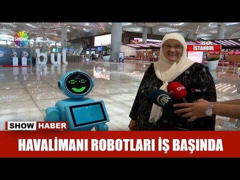 Havalimanı robotları iş başında