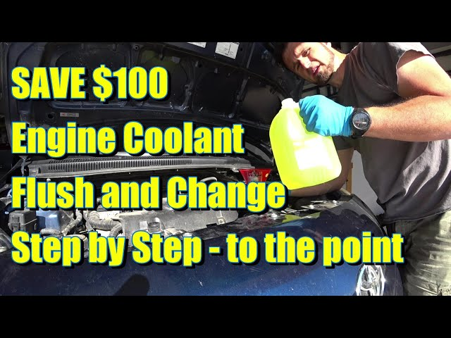 Save $100 - How to Properly Flush Radiator Coolant in your garage - Step by Step Toyota Yaris 2007