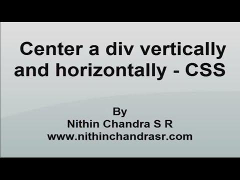 Center a div vertically and horizontally | CSS Tutorial