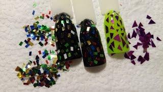 Камифубики, конфети для ногтей своими руками/ В домашних условиях