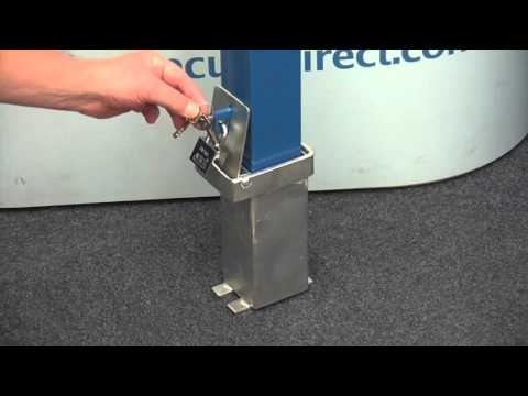100p Blue Removable Security Post Youtube