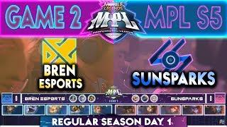 GAME 2 - BREN ESPORTS vs SUNSPARKS | MPL PH Season 5