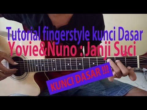 Tutorial fingerstyle janji suci yovie&nuno [fitra ardiyatma]