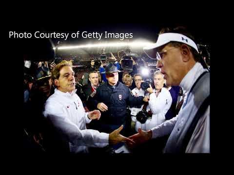 Coach Pat Dye and Coach Gene Stallings discuss the Iron Bowl