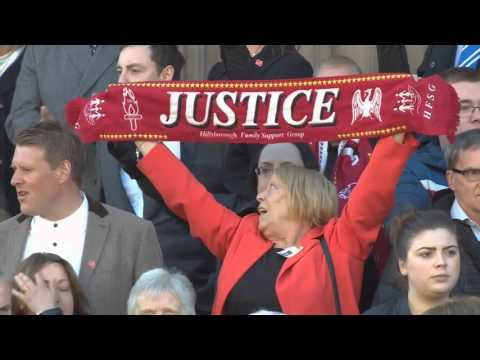 Hillsborough vigil: Liverpool pays tribute
