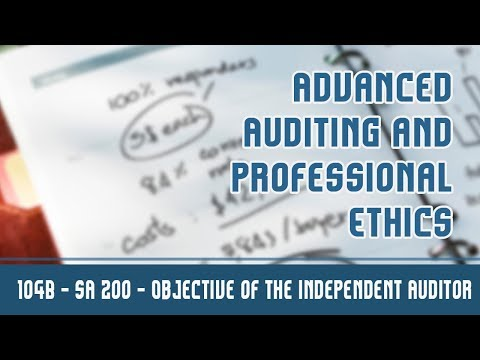104 (B) | SA 200 l Standards On Auditing | Requirements Of the Standards On Auditing