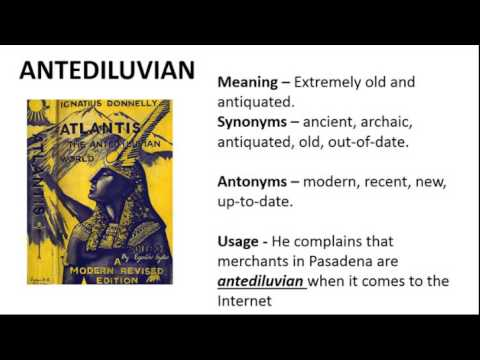 Vocabulary Made Easy Meaning of Antediluvian Synonyms Antonyms and its Usage  YouTube
