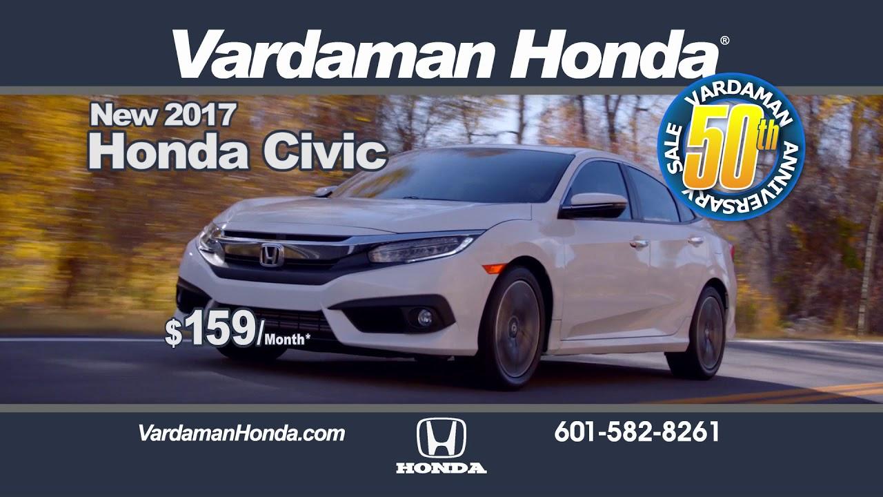 WDAM Commercial - Vardaman Honda - SEP17 - YouTube