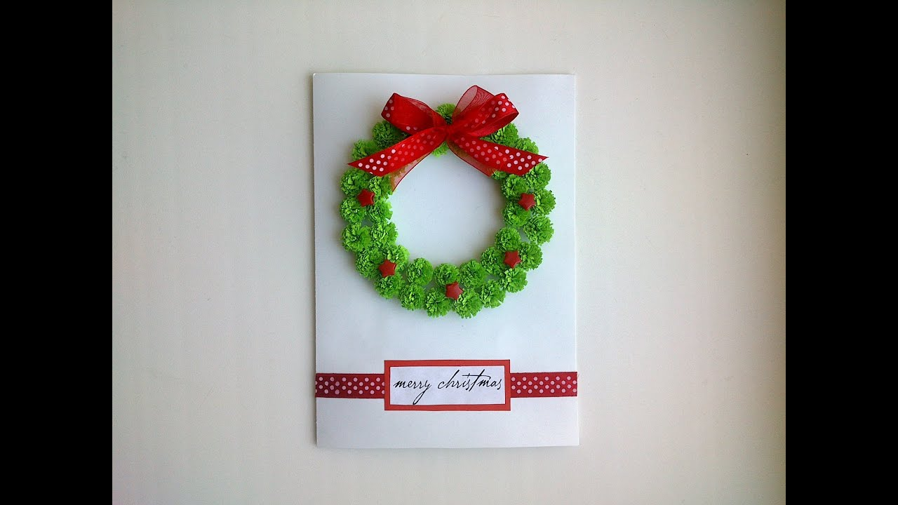 Paper Christmas Cards Make Beautiful Paper Quilling Christmas Card