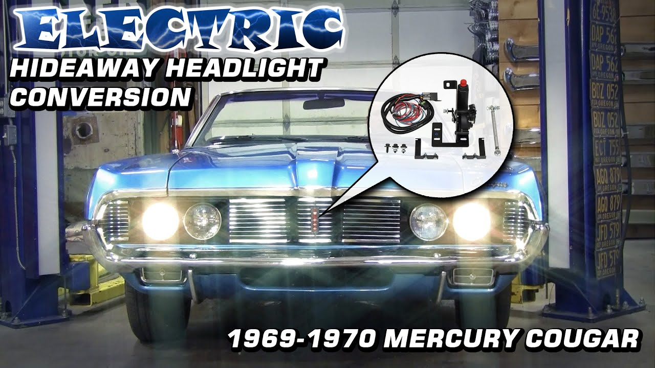 maxresdefault electric hideaway headlight conversion 1969 1970 mercury cougar  at bakdesigns.co