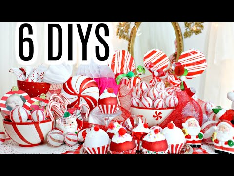 "🎄6 DIY DOLLAR TREE CHRISTMAS DECOR CRAFTS 2019🎄""I Love Christmas"" ep 34 Olivia's Romantic Home DIY"