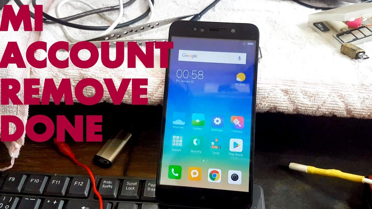 Mi Note 5a Edl Mode Or Mi Account Unlock Solution Youtube