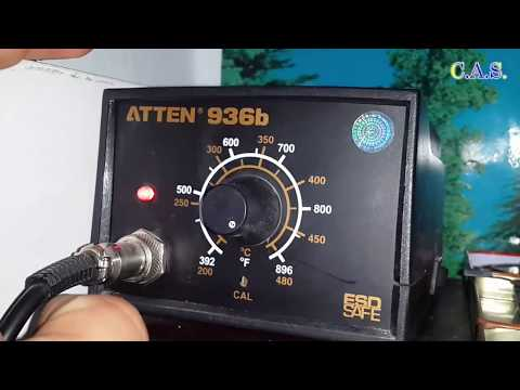 Модификация жала Atten 936B, жало плохо паяет, жало черным стал, не липнет припой