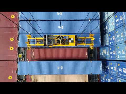 CONTAINER GANTRY CRANE OPERATION AT CROWLEY