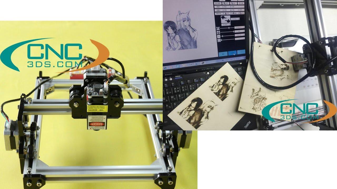 [CNC3DS] [ Hướng dẫn ] Sử dụng phần mềm máy khắc laser mini AIKO