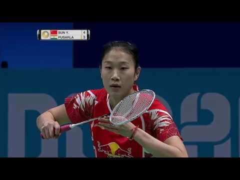 Dubai World Superseries Finals 2016 | Badminton Day 2 M6-WS | Sun Yu vs Pusarla V. Sindhu