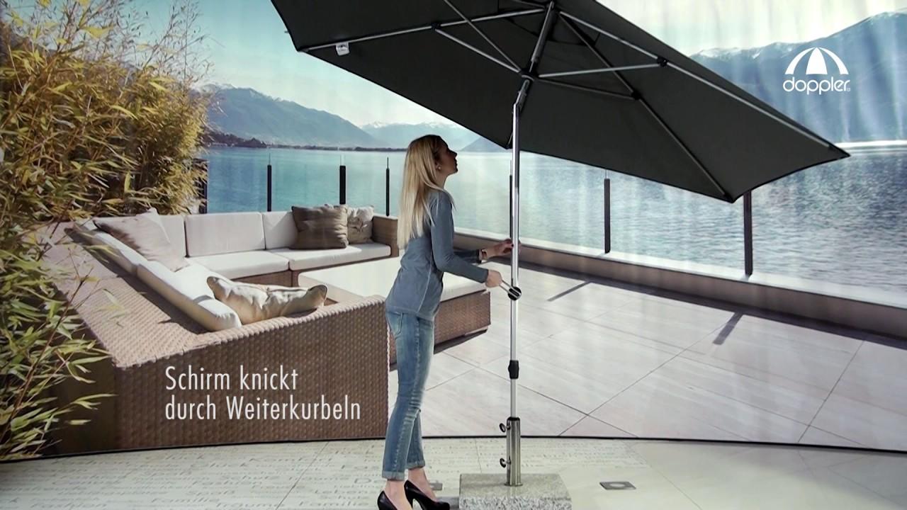 Doppler Sonnenschirm Expert 320 280 Autotilt Youtube