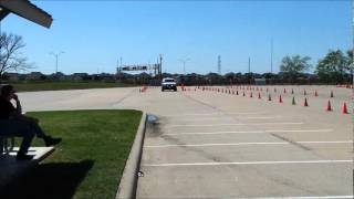 Jaye Wells Driving a Police Speed Course
