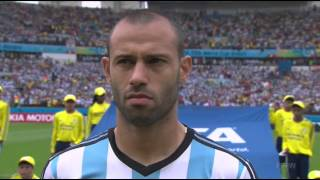 Nigeria vs Argentina National Anthems - 2014 World Cup