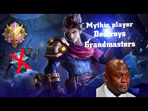 MYTHIC player DESTROYS Grandmasters- Claude savage gameplay- WDNS PewDiePie-  Mobile legends