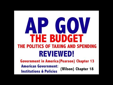 AP GOV Review Chapter 13 The Budget