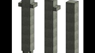 Создание семейства несущей колонны 1КВ по серии 1.020.