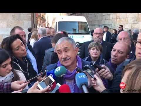 """Pepe Alvarez, UGT """"Hay margen para subir las pensiones y mantener el sistema"""""""
