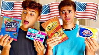BRITISH TRIES AMERICAN CANDY (Gay Couple Edition)