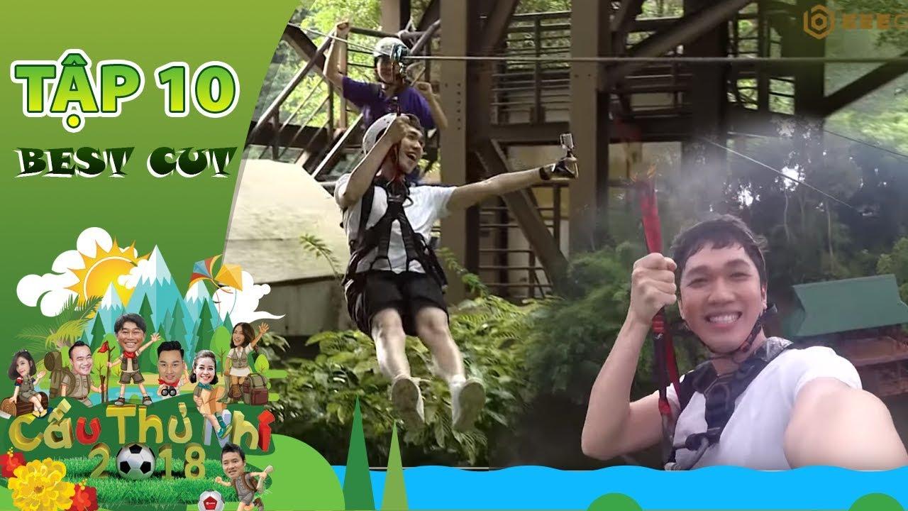 Minh Xù phấn khích, yêu cầu được chơi lại thử thách zipline | Best Cut Cầu Thủ Nhí 2018