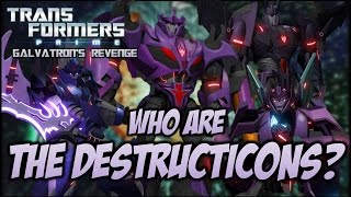 Transformers Prime: Galvatron's Revenge - WHO ARE THE DESTRUCTICONS? (FULL BIOS)