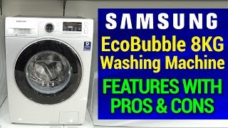 Samsung EcoBubble 8KG Front Load Washing Machine Features | Model WW80J5410GS/TL | Pros and Cons