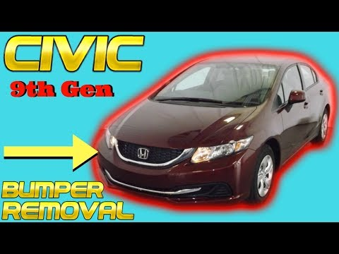 2012 2013 Honda Civic Front Bumper Removal Replacement Install How to Replace Sedan 2Dr