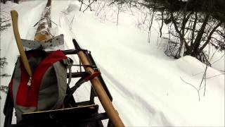 Winching Log And Snowmobile Part 1
