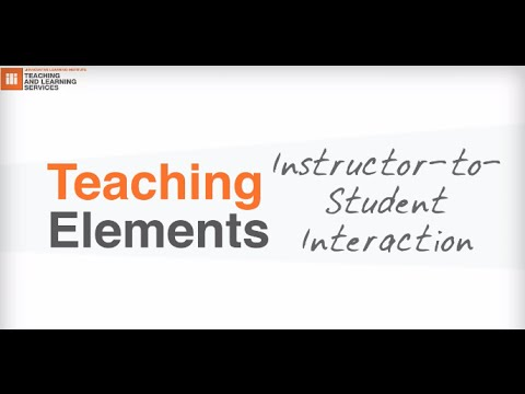 Teaching Element: Instructor-to-Student Interaction in Online Courses