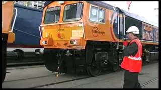 GBRf 5  new class 66 locos arrive from America.