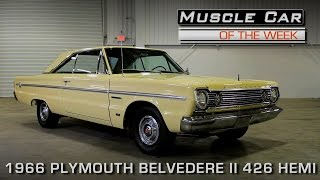 Muscle Car Of The Week Video Episode #178:  1966 Plymouth Belvedere II 426 Hemi