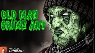 Download Video OLDMAN Grime Art | AUTODESK SKETCHBOOK | TimeLapse/SpeedArt MP3 3GP MP4