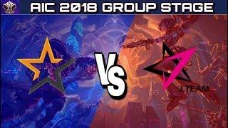 AIC 2018 : ALG vs JT Group Stage | Allegiance vs J Team - Arena of Valor