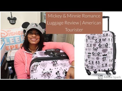 Mickey & Minnie Romance Luggage Review 🧳 | From American Tourister