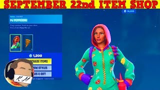 Fortnite Item Shop (September 22nd) | *NEW* PJ PEPPORNI SKIN + PIZZA EMOTE!