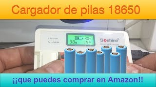 Cargador de pilas 18650 que puedes comprar en Amazon